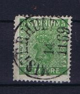 Sweden: 1858 Mi Nr 10 B , Used, Facit 7 Dark Green Cat Value 250 Euro - Zweden