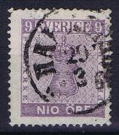 Sweden: 1858 Mi Nr 8 B , Used, Facit 8, Has A Light Fold