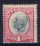 Sweden: 1891 Mi Nr 49 , MH/*, Facit 60, Thin Spot