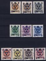 Sweden: 1916 Mi Nr 115 - 124 Used  Facit 126 - 135