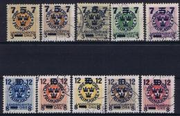 Sweden: 1916 Mi Nr 115 - 124 Used  Facit 126 - 135 - Zweden
