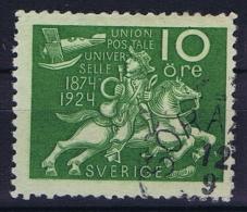Sweden: 1924 UPU Mi Nr 160 X, WM 2 X ,  Used  Facit 212 - Sweden