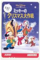 DISNEY Prepaidcard Japan (297) MICKEY MOUSE  *   Prepaid Karte Japan * Carte Prepayee Japon - Disney