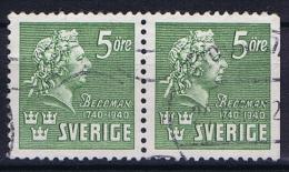 Sweden: 1940  Mi Nr 277 Pair   Facit 324 - Gebruikt