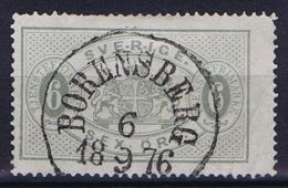 Sweden: 1874 Service Stamp Mi Nr  4 A Perforation 14, Grey, Has A Light Fold Right Under