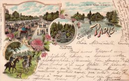 """Cpa  75  Paris , Carte Litho """" Souvenir De Paris """" (editon Seughol Et Magdelin )..1900 - France"""