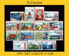 Cayman-005 (1970 - Y&T: N.264/268) - Cayman (Isole)
