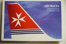 AIRLINE ISSUE / CARTE COMPAGNIE     AIR MALTA   A 320 - 1946-....: Ere Moderne