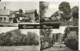 CPSM - - - Hollande - Groeten Uit  Deurne -  Markt - Hertekamp - Ruine Groot Kastel- Brabantse Boerderijbij Ruine - Deurne