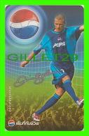 PHONESCARDS SPORT - DAVID BECKHAM, FOOTBALL (SOCCER) PEPSI COLA THAILAND - TÉLÉCARTES - - Sport
