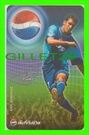 PHONESCARDS SPORT - DAVID BECKHAM, FOOTBALL (SOCCER) PEPSI COLA - THAILAND - TÉLÉCARTES - - Sport