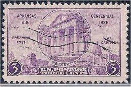 USA / États-Unis  1936  #  782  ( Arkansas  Centennial ) - Oblitérés