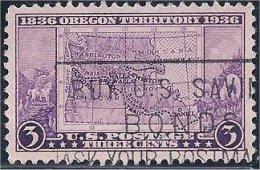 USA / États-Unis  1936  #  783   ( Oregon Territory ) - Oblitérés
