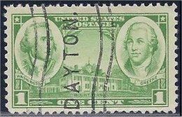 USA / États-Unis  1936  #  785   ( Army - Washington & Greene ) - Oblitérés