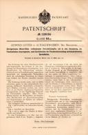 Original Patentschrift - L. Lotter In Althaldensleben , 1901 , Betrugssicherung Für Flaschen , Haldensleben !!! - Historische Dokumente