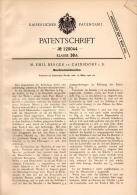Original Patentschrift - M. Berger In Cainsdorf I.S., 1901 , Muschel - Schneidmaschine , Zwickau !!! - Maschinen
