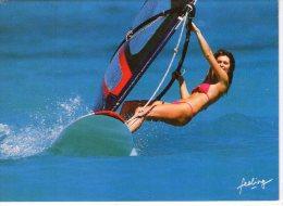 Sport..Planche à Voile..pin Up - Cartoline