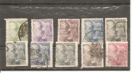 España/Spain-(usado) - Edifil  921-25, 927, 929-30, 932-33 - Yvert  679-83, 684, 686-87, 688-89 (o) - 1931-Hoy: 2ª República - ... Juan Carlos I