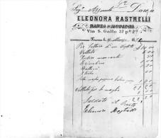 1891 FATTURA  -  FIRENZE - SARTA E MODISTA - Italia
