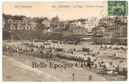 35 - DINARD - La Plage, Côté Des Terrasses +++++++++ ELD, #606 +++ Vers Suresnes, 1908 ++++ - Dinard