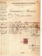 1894  FATTURA  -  FIRENZE -  FABBRICA DI CAMICE - Italia