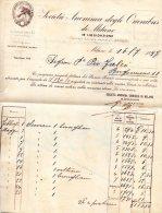 1897  FATTURA -  MILANO - SOCIETA' ANONIMA DI OMNIBUS - Italia