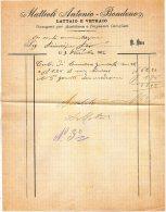 1908 FATTURA BONDENO - LATTAIO E VETRAIO - Italia
