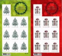 Australia 2013 Christmas Two Embossed 55c Self-adhesives Sheetlets MNH - Ongebruikt