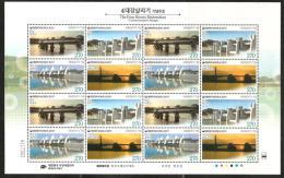 O) 2011  KOREA, BRIDGE, MINI SHEET MNH.- - Korea (...-1945)