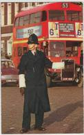 London POLICEMAN, FORD ANGLIA, AEC DOUBLE-DECKER BUS - Streetscene - England - Turismo