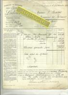 59 - Nord - BOURBOURG-CAMPAGNE - Facture LEDOUX & VANDERBROUCQUE - Fabrique De Chicorée – 1918 - Francia