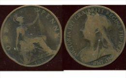 GRANDE BRETAGNE ( Royaume Uni )  One  1 Penny 1897 - 1816-1901 : Frappes XIX° S.