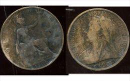 GRANDE BRETAGNE ( Royaume Uni )  One  1 Penny 1900 - 1816-1901 : Frappes XIX° S.