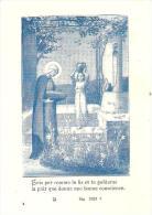 IMAGE RELIGIEUSE PIEUSE VIERGE MARIE ET LE LIS COMMENTAIRE AU VERSO - Devotion Images