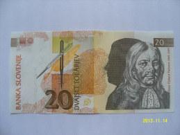 BANCONOTE   SLOVENIA  20  TALLARI   FIOR DI STAMPA - Slovénie