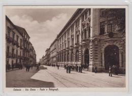AK - Catania - Via Etnea Poste e Telegrafi 1950
