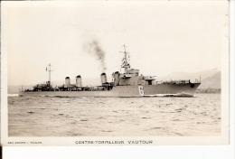CONTRE TORPILLEUR VAUTOUR ART PHOTO TOULON NON ECRIS - Warships