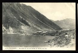 Cpa Du 65  Cauterets Un Coin Du Lac De Gaube Et Hôtel Du Lac   THO10 - Cauterets