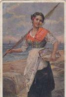 CPA JOSEF SUESS- THE FISHER MAID, SHIPS, CENSORED - Suess, Josef