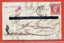 FRANCE N°17B SUR LETTRE DE 1860 DE NANCY POUR SAINT DIZIER - 1849-1876: Classic Period