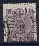 Sweden: 1858 Mi Nr 8 A , Used, Facit 8  Rot Violett CV 300 Euro