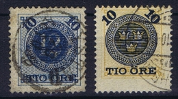 Sweden: 1889 Mi Nr 39-40  Used Facit 50-51 - Sweden