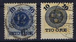 Sweden: 1889 Mi Nr 39-40  Used Facit 50-51