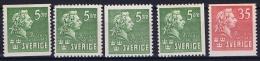 Sweden: 1940 Mi 277-278 MNH/**