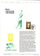 Document Historique De La Poste: Maurice Chevalier, Paris (13-4043) - Documentos Del Correo