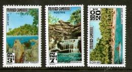 Cambodge N° 136-138 (3v) Paysages - Cambodia