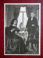 Poetess Lydia Koidula In Võru By T. Kulles - Estonian Writer Fr. R. Kreutzwald - Estonian Art  - Unused - Peintures & Tableaux