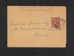 Natal Wrapper 1899 To Germany - Zuid-Afrika (...-1961)