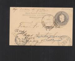 Argentina Stationery 1900 To Germany - Postal Stationery