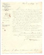 ROUEN BUCHY PREFECTURE DIRECTIVES DU PREFET CONCERNANT LES LETTRES TAXEES PAR LA POSTE 1837 - Autographes